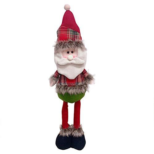 Muñeca de Navidad de Papá Noel con piernas retráctiles para decoración de Navidad, Papá Noel, muñeco de nieve, Elk, figura de adorno