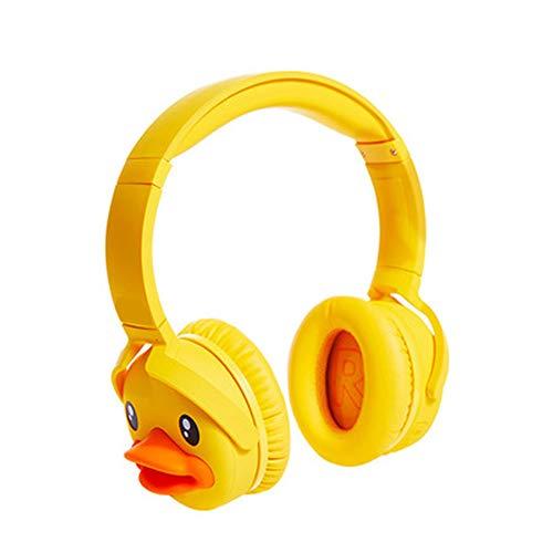 Casque Casque de sport Casque de jeu Casque de musique Casque sans fil Bluetooth, réduction active du bruit Pliable portable, adapté aux téléphones portables Tablettes Ordinateurs portables-yellow