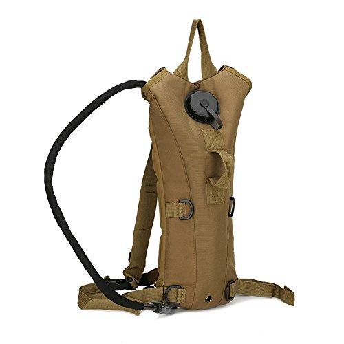 szsyr-fans von Reisen Sport Bergsteigen Taktik Herren Camping Military Tactical Turnbeutel Leinwand Campus Rucksack Camel mit 2,5l Wasser Blase Rucksack Wandern Wasser Tasche, mud