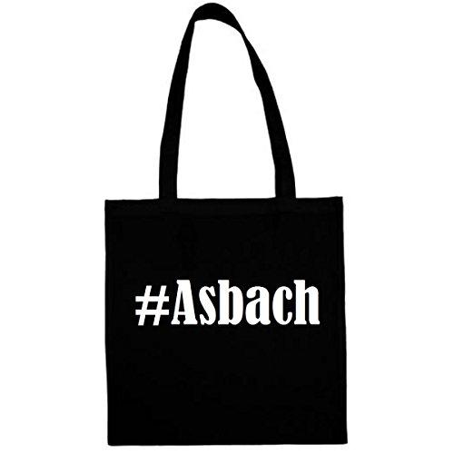 Tasche #Asbach Größe 38x42 Farbe Schwarz Druck Weiss