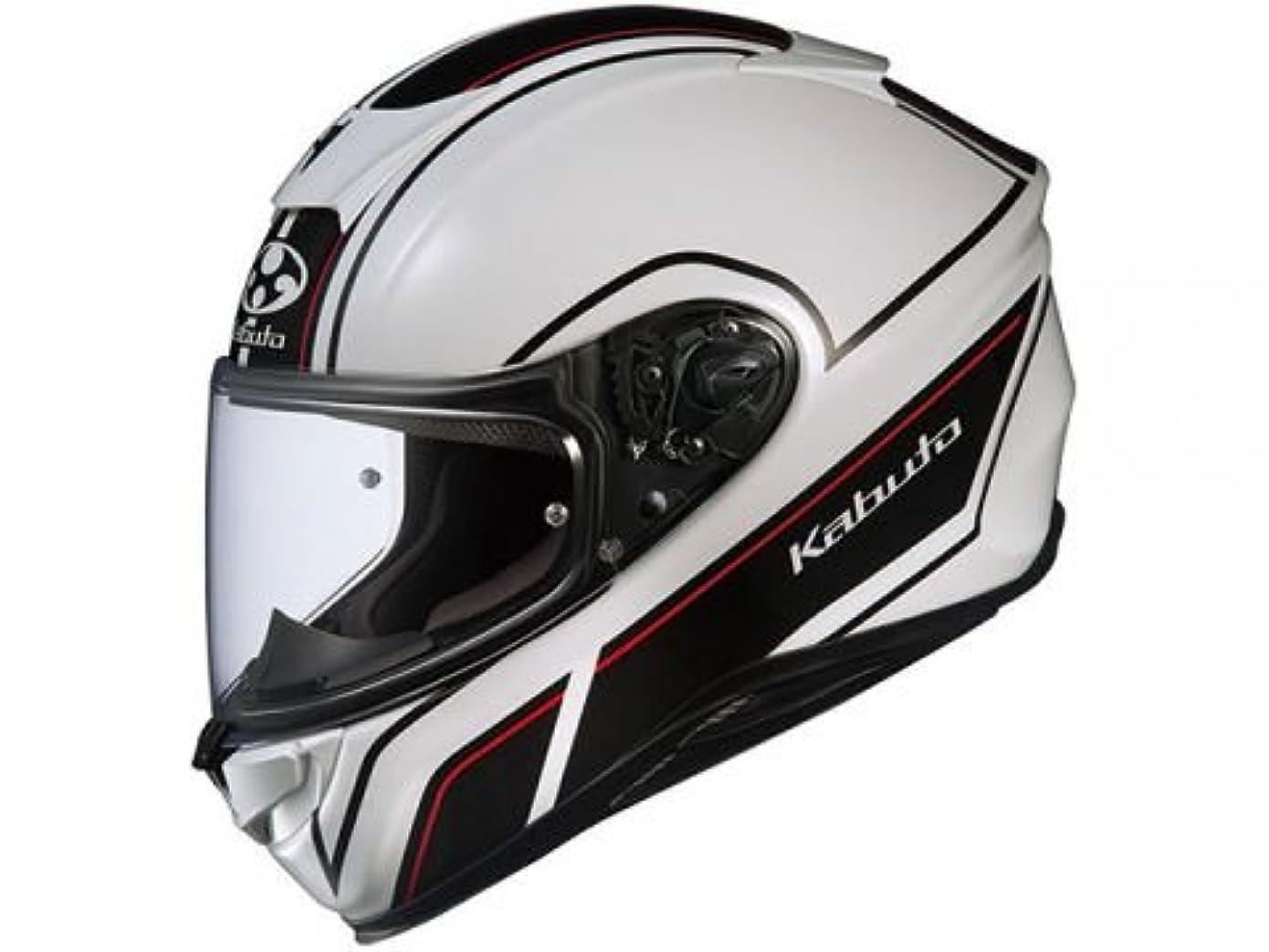 テセウス去る変えるオージーケーカブト(OGK KABUTO)バイクヘルメット フルフェイス AEROBLADE5 SMART(スマート) ホワイトブラック (サイズ:L) 575199