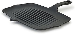 Lightweight Cast Iron Rectangular Grill Pan - Cast Iron, Enameled Interior and Exterior - 12.5x8.6 inches, 4.2 lbs. - Matt...