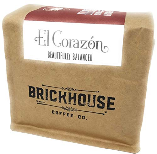 Light-Medium Roast El Corazon Honduran Whole Bean Coffee by Brickhouse Coffee Co. – 12 Ounce Bag