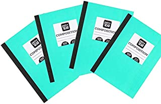 Pen + Gear Composition Book, Wide Ruled, 100 Pages, 4-pack, Teal Blue