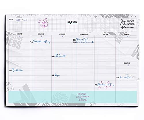 Planificador semanal - Calendario de mesa para arrancar - Agenda para citas y lista de tareas, color Creative Mess A4