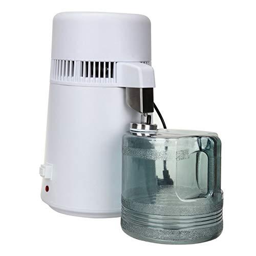 Wasser Distiller 1.1 Gallon / 4 L Edelstahl Inner Wasser Destillation 750W-Wasseraufbereitungssystem Filter Wasser Distillers Maschine Mit Sammelflasche Für Büros Startseite,110v