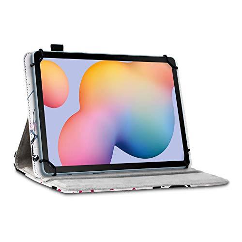 UC-Express Tablet Hülle kompatibel für Samsung Galaxy Tab S6 Lite Tasche Schutzhülle Case Schutz Cover 360 Drehbar 10.3 Zoll, Farbe:Motiv 8
