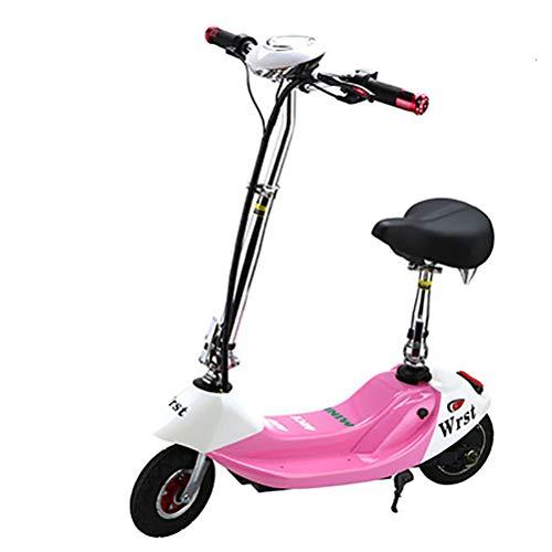MIRC Señoras Plegables Bicicleta eléctrica, Bicicleta eléctrica de 8 Pulgadas con Rueda...