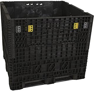 Triple Diamond Plastics Heavy-Duty Collapsible Bulk Storage Container - 48in.L x 45in.W x 42in.H, 1500Lb. Capacity, Model# TDP-4548-42