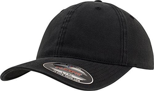 Flexfit Garment Washed Cotton Dad Hat Kappen, Black, S/M