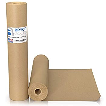 Brown Kraft Paper Roll - 18  x 1,200   100   Made in The USA - Ideal for Packing Moving Gift Wrapping Postal Shipping Parcel Wall Art Crafts Bulletin Boards Floor Covering Table Runner