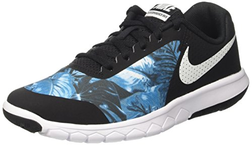 Nike Flex Experience 5 Print GS, Scarpe da Corsa Bambino, Nero (Black/White), 38.5 EU