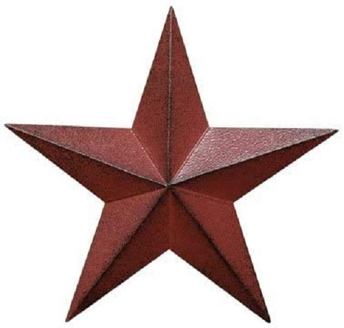 "Patriotic Metal Barn Star Wall Decor, 12"" Hanging Country Rustic Metal Star for July 4th Decoration"