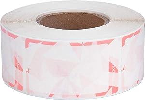 "NATURALABEL Paper Dissolvable Food Storage Label Pink Color Design 2.25""x1.25"" Pack 500"