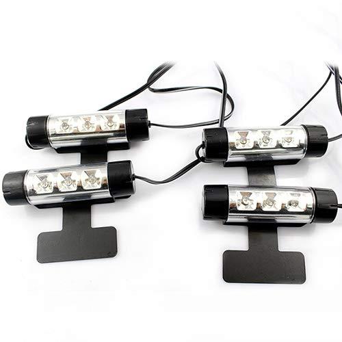 Lot de 4 ampoules LED pour voiture 12 V 4 en 1 Bleu