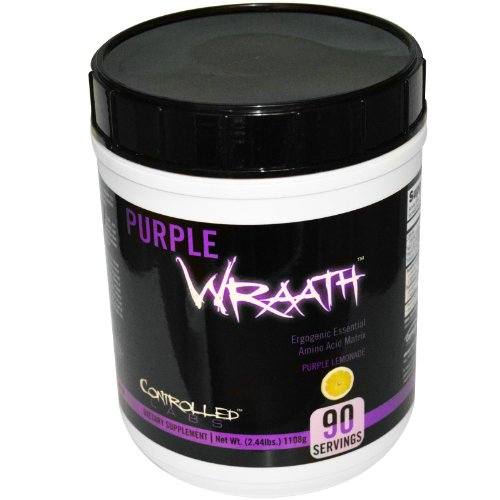 Purple Wraath by Controlled Labs, BCAA and EAA Amino Acid Supplement, 45 or 90 Servings with Endurance Blend Intra Workout Powder, Optimal Endurance, Focus, and Stamina (Lemonade, 90 Servings)