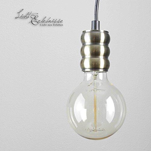 Verstelbare hanglamp in brons industrieel design E27 hanglamp eettafel keuken woonkamer
