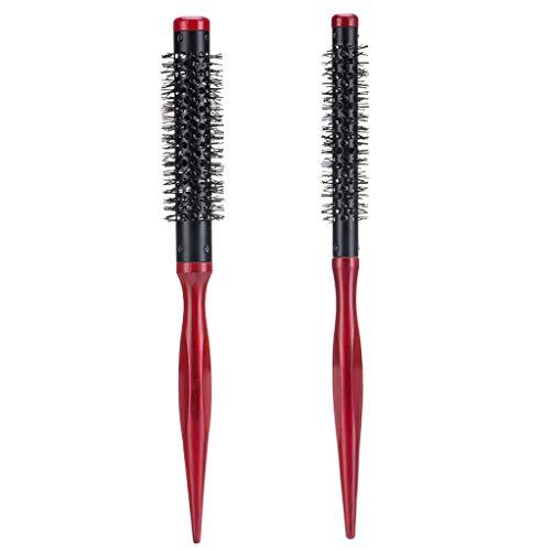 Homyl 2x Rouleau Peigne Brosse à Cheveux Professional Anti-statique pour Cheveau Longs et Courts 12,15mm