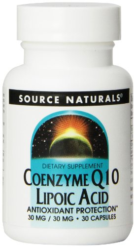 Source Naturals Coenzyme Q10 Lipoic Acid  Antioxidant Protection Dietary Supplement That Supports Heart Health amp Healthy Gums  30 Capsules