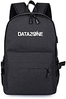 Datazone School and University Student Backpack, Lightweight Waterproof Travel Bag, Compartment with Front Pocket and USB ...