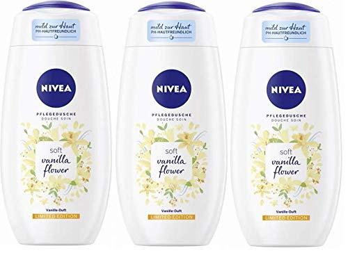 Nivea Pflegedusche soft vanilla flower Limited Edition Vanille-Duft 3er-Pack(3x250ml)