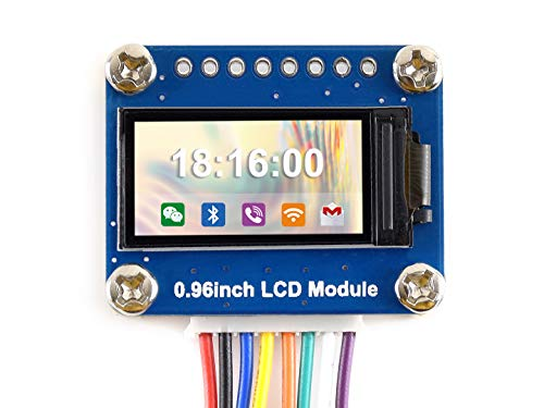 Waveshare 0.96inch LCD Display Module IPS Screen 160x80 HD Resolution SPI Interface RGB 65K Color