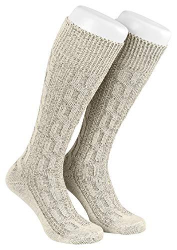 Gloria wears Trachten Socken Beige (45)
