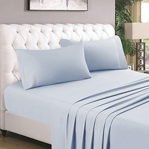 HOMEIDEAS 4 Piece Bed Sheet Set (Full, Lavender) 100% Brushed Microfiber 1800 Bedding Sheets - Deep Pockets