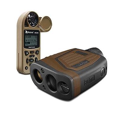 Bushnell 202540KC Elite 1 Mile Conx Laser Rangefinder with Kestrel Sportsman, Brown/Black