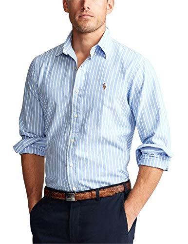 Ralph Lauren Camisa Azul Rayas Blancas para Hombre L