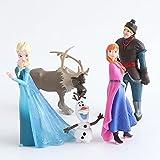 Frozen 5 Unids / Set 5-10 Cm Anna Elsa Figuras De Acción Kristoff Sven Olaf PVC Modelo Muñecas Colec...