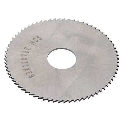 Hoja de sierra para cortador de fresado, accesorios industriales Hoja de corte circular duradera 63 x 1,2 x 16 W6542 para cortar metales