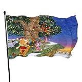 BHGYT Winnie The Pooh Flagge 3x5 FtDecorative Outdoors Anti UV Fading Innen Flaggen Saisonale und Holiday Yard Flag Banner Polyester 3x5 Fuß