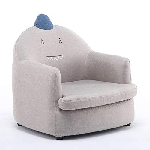 Canapés Meubles pour tout-petits Siège enfant Fauteuil de détente pour fille garçon Chaise de canapé Chaise longue mignonne Tabouret de canapé en tissu ( Color : Gray , Size : 53cm*58cm*50cm )