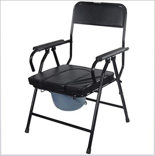 KFDQ Medizinischer Reha-Stuhl, Rollstuhl, Tragbarer Nachttisch-Kommode Professioneller Reha-Stuhl Für Medizinische Hilfsmittel, Stuhl-Kommode Toilettengebrauch Als Allein Stehender Stuhl Oder Mit Toi