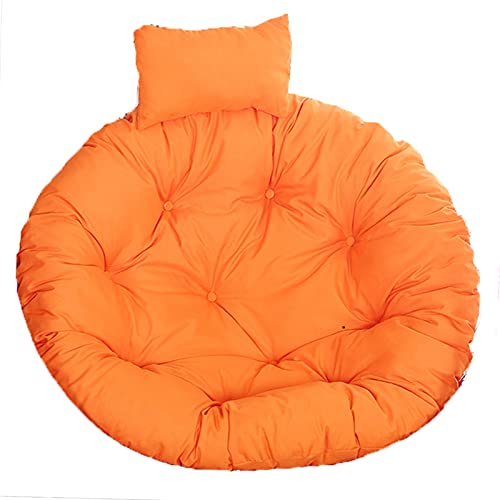 Egg Chair Cushion Outdoor, Thick Hanging Swing Chair Seat Cushion Replacement, Large Washable Bedroom Hammock Chair with Adjustable Pillow, Papasan Cushion, Chair Pads Floral