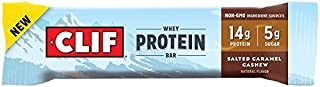 Clif Whey Protein Bar, Salted Caramel Cashew, 5 Count