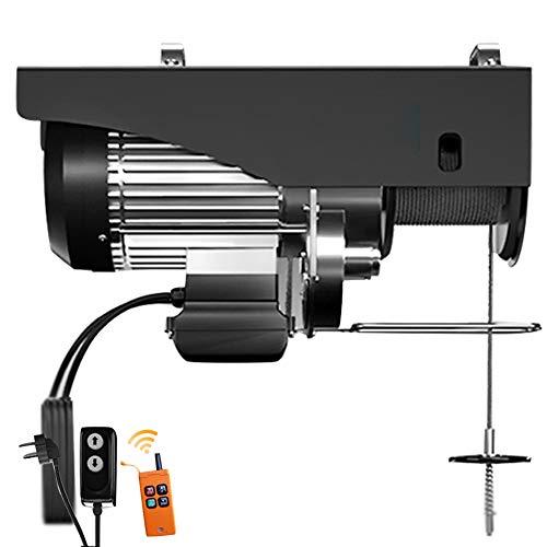 WUK Mini Metall Elektrisches Hebezeuggerüst, Drahtseillänge 20 m, Ferngesteuertes elektrisches Hebezeug 510/650/950/1150 W Haushaltswindenkran 70-380 kg