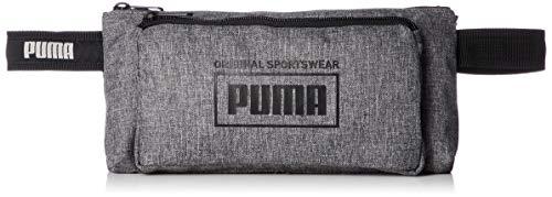 PUMA 076925 03 Sole Waist Bag Unisex Gürteltasche aus Polyester mit Cat-Logo, Groesse OneSize, grau meliert