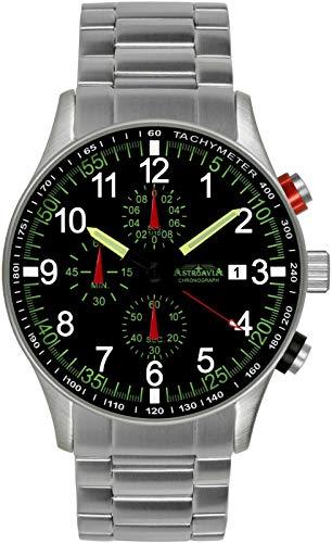 Astroavia N37S Herren-Armbanduhr, Armband aus Edelstahl