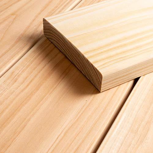 HORI® sibirische Lärche Terrassendiele Glatt Komplettset Massiv Nadelholz I Bausatz inkl. 45 x 70 mm Unterkonstruktion I Fläche: 32 m² I 4,00 m Dielenlänge