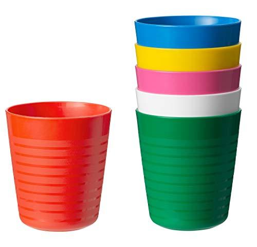 Kalas 304.212.97 Trinkglas, BPA-frei, mehrfarbig, 6 Stück, Weiß, Gelb, Orange, Pink, Grün, Blau, Set of 6