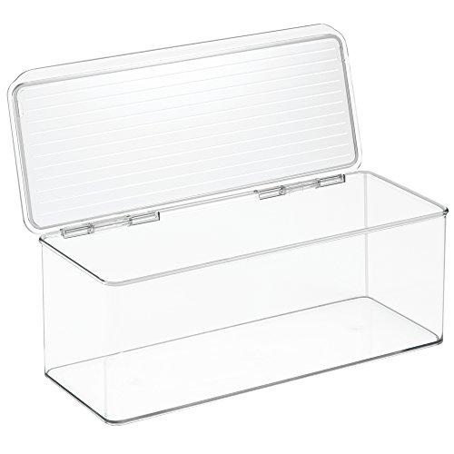 InterDesign Cabinet/Kitchen Binz Contenitore cucina e dispensa, Organizer per cucina impilabile in Plastica, Contenitore con coperchio, Trasparente