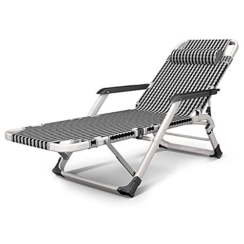 YX-ZD Terrasse Sun Lounger Garden Zero Gravity Chair, Chaiselongue Im Freien Verstellbare Faltbare Liegen Gartenterrassenmöbel, 550 Lbs Tragfähigkeit
