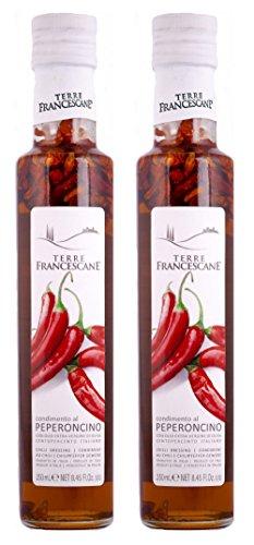 2er Pack Terre Francescane - Chili-Öl - Extra Natives Olivenöl mit Chili (2 x 250 ml)