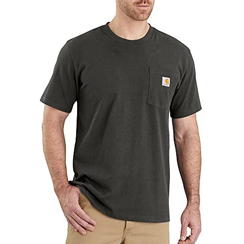 Carhartt Pocket Short-Sleeve T-Shirt, Peat, M Uomo