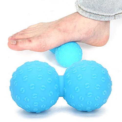 【𝐁𝐥𝐚𝐜𝐤 𝐅𝐫𝐢𝐝𝐚𝒚 𝐃𝐞𝐚𝐥𝐬】Fitness-Tool Fitnessgeräte Fitness-Massageball, Muskel-Release-Muskel-Release-Ball, Massagegerät Muskel-Schmerz-Linderung für das hintere Bein(blue)