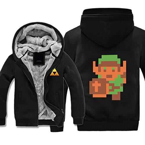 IjnUhb The Legend of Zelda Cosplay Disfraz Breath of The Wild Cute Dog Sudadera con Capucha Sweatershirt Chaqueta con Cremallera De Halloween para Hombre,C,L