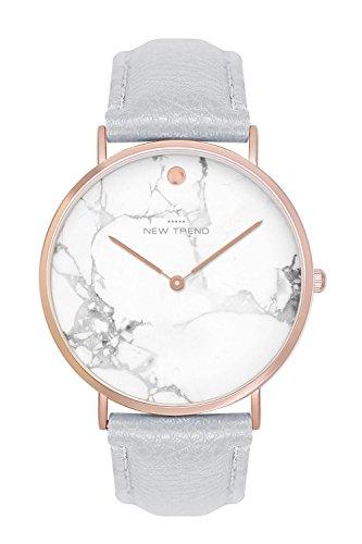 New Trend - Love for Accessories Damen Uhr analog Quarzwerk mit Kunst-Leder-Armband X0-2GZ0-5LAO