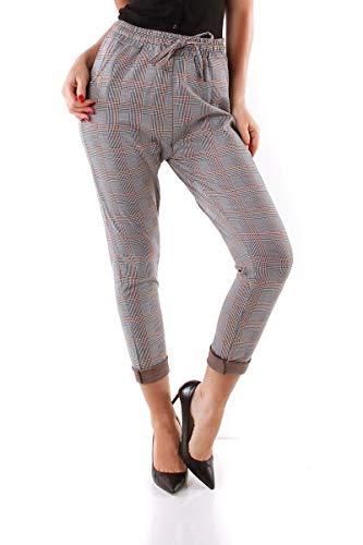 OSAB-Fashion 10016 Karo broek voor dames, geruite elastische tailleband
